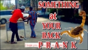 Video: Zfancy Tv Comedy - Scorpion at Your Back Prank (African Pranks)